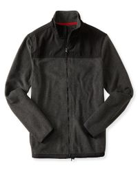 Aéropostale | Gray Zippered Mock-neck Jacket | Lyst