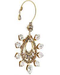 Erickson Beamon - Metallic Hung Up Gold-Plated Swarovski Crystal Earrings - Lyst