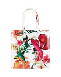 Ted Baker Multicolor Tropkon Toucan Large Icon Shopper Bag