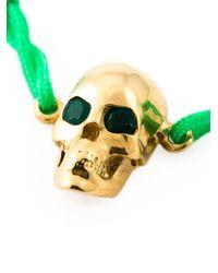 Leivan Kash | Green Emerald Eyes Skull Bracelet | Lyst