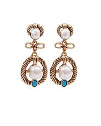 Oscar de la Renta - Blue Russian Gold Pearl Earrings - Lyst