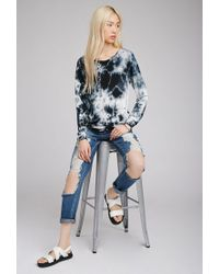 Forever 21 - Blue Tie-dye Knit Pullover - Lyst