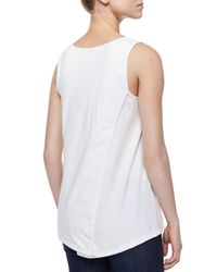 Neon Buddha - White Long Scoop-neck Tank - Lyst