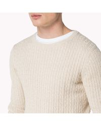 Tommy Hilfiger | Natural Cotton Sweater for Men | Lyst