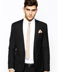 ASOS - Natural Tie and Pocket Square Set for Men - Lyst