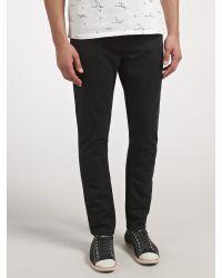 Scotch & Soda Black Skim Skinny Jeans for men