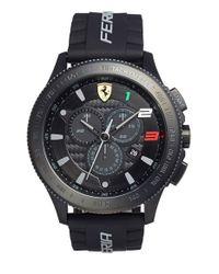 Scuderia Ferrari - Black 'scuderia Xx' Chronograph Silicone Strap Watch for Men - Lyst