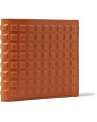 Balenciaga | Orange Studded Leather Billfold Wallet for Men | Lyst