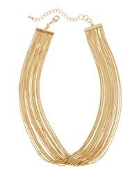 Fragments | Metallic Layered Multi-chain Necklace | Lyst