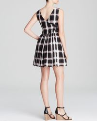 Marc By Marc Jacobs Black Dress - Blurred Gingham Voile Tie Back