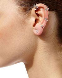 Staurino Fratelli - Metallic Next Classic Diamond Stud & Ear Cuff Set - Lyst