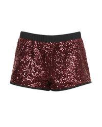 TOPSHOP | Purple Oxblood Sequin Runner Shorts | Lyst