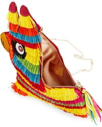 Charlotte Olympia | Multicolor Pinata Raffia And Leather Shoulder Bag | Lyst
