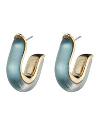 Alexis Bittar | Blue Geometric Huggie Post Earring You Might Also Like | Lyst