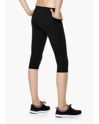 Mango - Black Fitness & Running - Slimming Effect Capri Leggings - Lyst