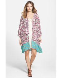 Billabong - Pink 'dazed Dreamer' Kimono - Lyst