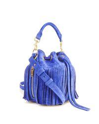 Saint Laurent - Blue Emmanuelle Small Suede Cross-Body Bag - Lyst