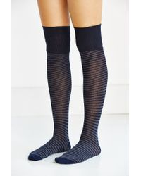 Urban Outfitters - Blue Ribbed Cuff Over-the-knee Sock - Lyst