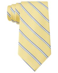 Michael Kors | Yellow Michael Frosted-rib Striped Tie for Men | Lyst