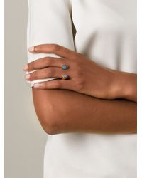 Bjorg - Metallic 'Blue Moon' Ring - Lyst