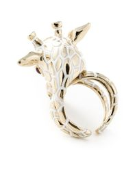 Roberto Cavalli - Metallic 'Giraffe' Ring - Lyst