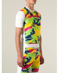 DSquared² White Contrast-Panel Cotton Sweatshirt for men