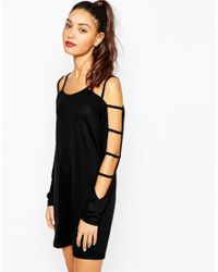 Daisy Street | Black Tunic Dress With Cut Out Arm Detail | Lyst