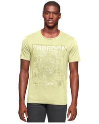 Calvin Klein Jeans Green Ck Freedom Graphic-print Logo T-shirt for men