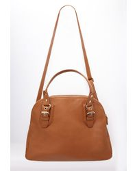 Forever 21 Brown Faux Leather Satchel