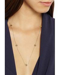 Alison Lou | Metallic Happy Sad 14-Karat Gold Diamond Necklace | Lyst