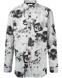 DIESEL | Black Shirt S-ozzy Slim Fit Denim Collar for Men | Lyst