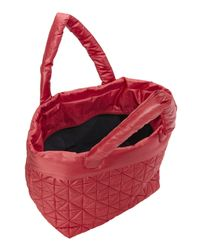 Nila Anthony - Purple Oxblood Quilted Nylon Tote - Lyst