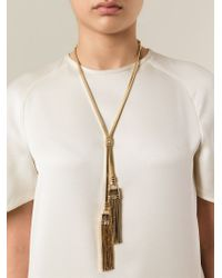 Lanvin | Metallic Tassle Necklace | Lyst