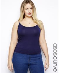 ASOS Blue Vest in Soft Touch Jersey