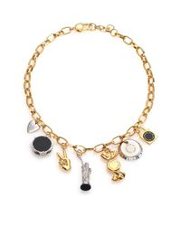 Marc By Marc Jacobs - Metallic Lost & Found Ny Trinket Necklace - Lyst