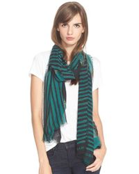 Marc By Marc Jacobs - Green 'grand Painted Flower' Scarf - Lyst