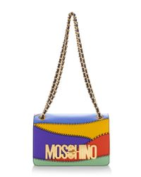Moschino - Multicolor Patchwork Flap Bag - Lyst