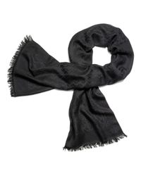 Tory Burch Black All-Over T Jacquard Scarf