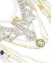 Juicy Couture | Metallic Duchess Pearl Statement Necklace | Lyst