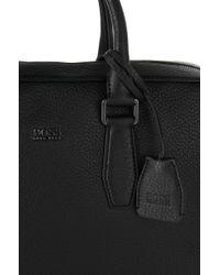 BOSS Black Leather Bag: 'gypo' for men