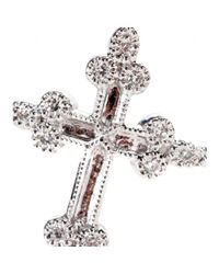Stone Metallic Devotion 18kt White Gold Ring With White Diamonds