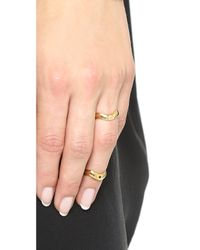Elizabeth and James - Metallic Zaha Knuckle Ring - Gold - Lyst