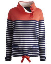 Joules Blue Harkaway Stripe Sweatshirt