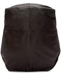 Côte&Ciel Black Leather Nile Alias Backpack for men
