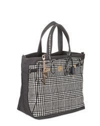 V73 - Black Tweed Canvas Tote - Lyst
