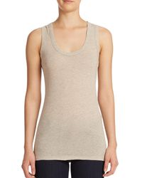 James Perse | Natural Narrow Scoopneck Tank Top | Lyst