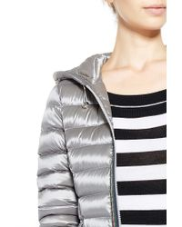 Liu Jo | Gray 'timo' Long Quilted Jacket | Lyst