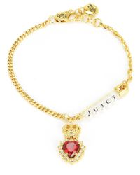 Juicy Couture | Red Royal Punk Bracelet | Lyst