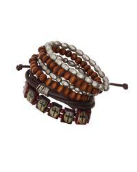 TOPMAN | Brown Multi Pack Wristwear* for Men | Lyst