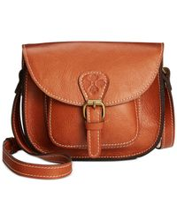 Patricia Nash | Brown Argos Crossbody Saddle Bag | Lyst